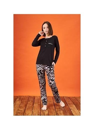 Pjs Pijama Takım Siyah